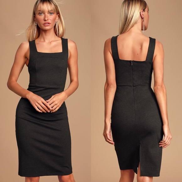 Lulu's Dresses & Skirts - LULU'S Because I Have You Gray Bodycon Dress
